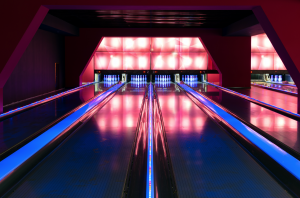 at home luxury bowling alley