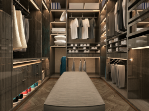 luxury walk in wardrobe