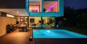 ambient lighting in luxury home