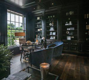 luxury dark wood home office