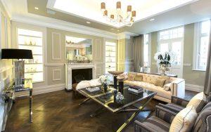 luxury living room in london