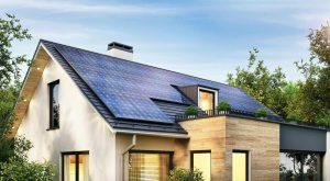 solar panels in luxury home