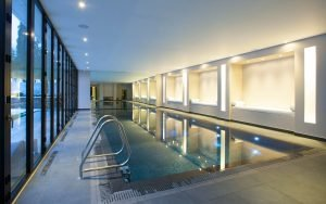 high end swimming pool in home